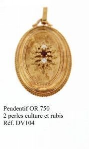 Pendentif-OR750-2perles-de-culture-et-rubis